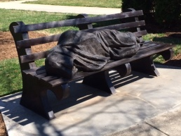 Homeless Jesus - a sculpture by Timothy Schmalz.  This photo is from saintalbans.dionc.org - Davidson, N.C.