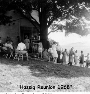 Hassig Family Reunion 1968 casual Francis Place