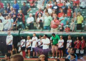 Jon Singing the National Anthem Progressive Field